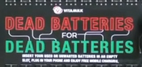 Viral video - using dead batteries to charge dead cell phones