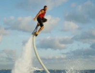 Surf through the air on a Flyboard