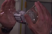 Astronauts Play in Space with Water Bubbles and Video