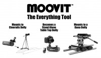 MOOVIT™ Power Drive attaches to cameras,  dollies and sliders to provide smooth variable speed motion