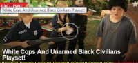 Great new game for kids - White Cops & Unarmed Black Civilians Play Set